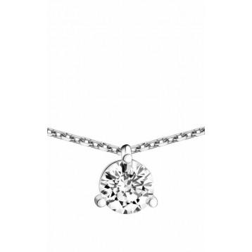 Collier Diamant 0.70ct or gris 18k