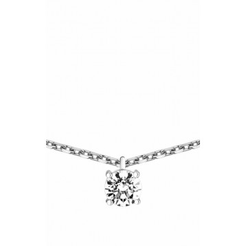 Collier Diamant 0.25ct or gris 18k