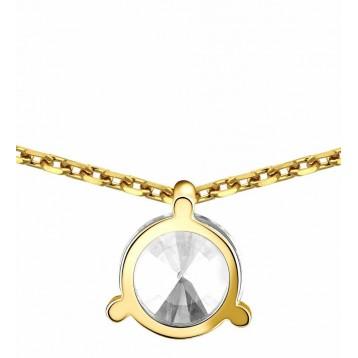 Collier Diamant 0.15ct or jaune 18k