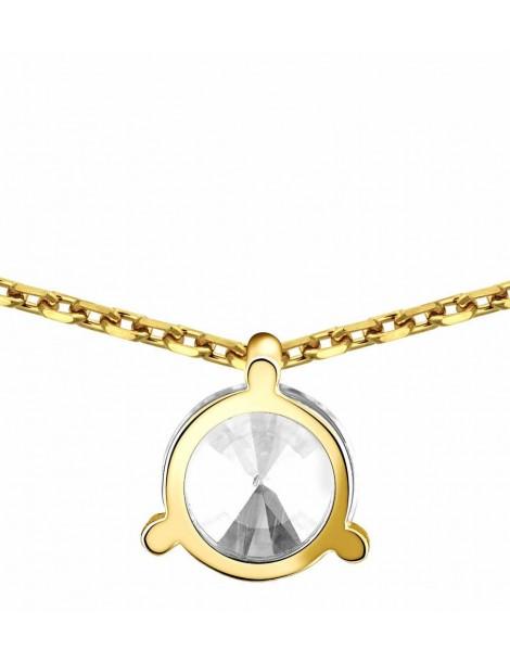 Collier Diamant 0.20ct or jaune 18k