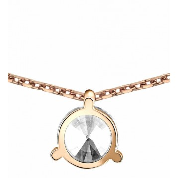Collier Diamant 0.10ct or rose 18k