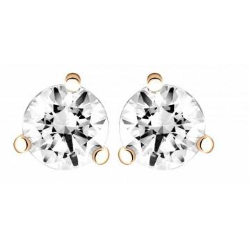 Boucles d'oreilles Diamant 1,00ct or rose 18k