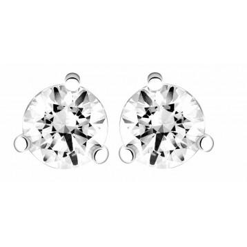 Boucles d'oreilles Diamant 1,00ct or gris 18k