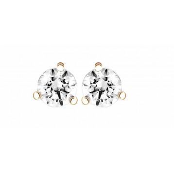Boucles d'oreilles Diamant 0.10ct or rose 18k