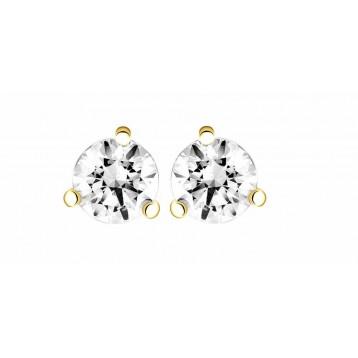 Boucles d'oreilles Diamant 0,16ct or jaune 18k
