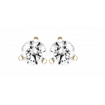 Boucles d'oreilles Diamant 0,16ct or rose 18k