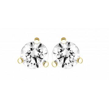Boucles d'oreilles Diamant 0.20ct or jaune 18k