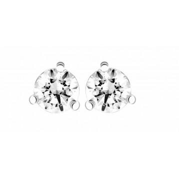 Boucles d'oreilles Diamant 0.20ct or gris 18k