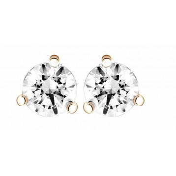 Boucles d'oreilles Diamant 0.50ct or rose 18k