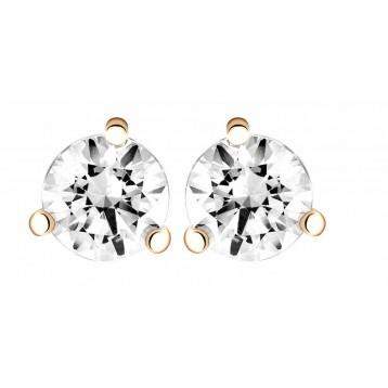 Boucles d'oreilles Diamant 0.70ct or rose 18k