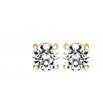 Boucles d'oreilles Diamant 0.25ct or jaune 18k