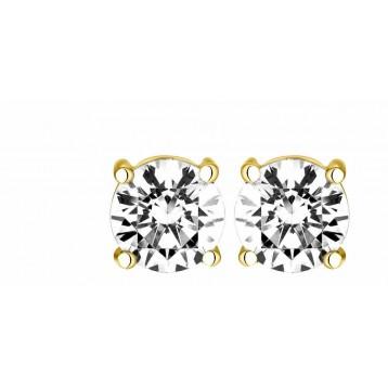 Boucles d'oreilles Diamant 0.40ct or jaune 18k