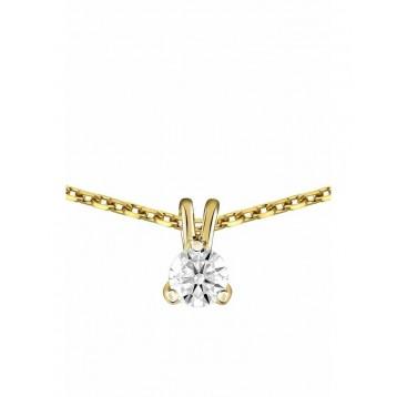 Collier Diamant 0.20ct or...