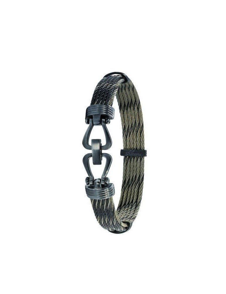 Bracelet Albanu cable acier