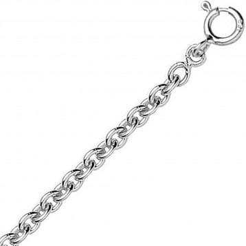 Chaine or blanc 18k maille...