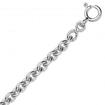 Chaine or blanc 18k maille forçat ronde