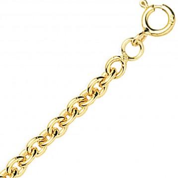 Chaine or jaune 18k maille forçat ronde